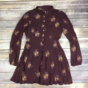 {UO Kimchi Blue} Floral Mini Dress/ Tunic Sz M